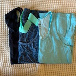 Trio of work out tanks